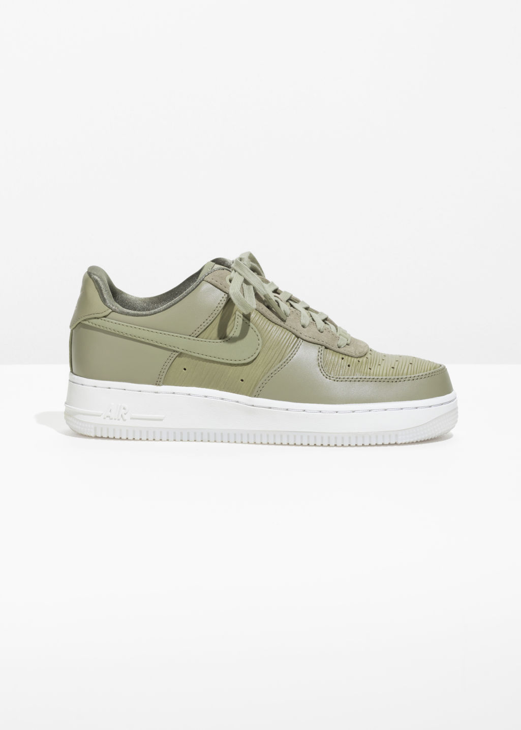 Front image of Stories n air force 1 `07 prm in green