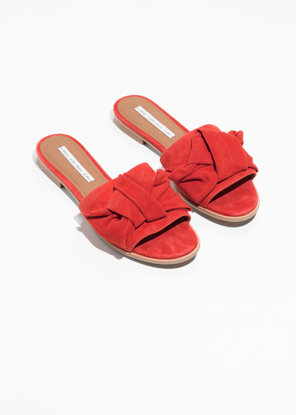 & OTHER STORIES Knotted Suede Slip Ons pLT9rOM