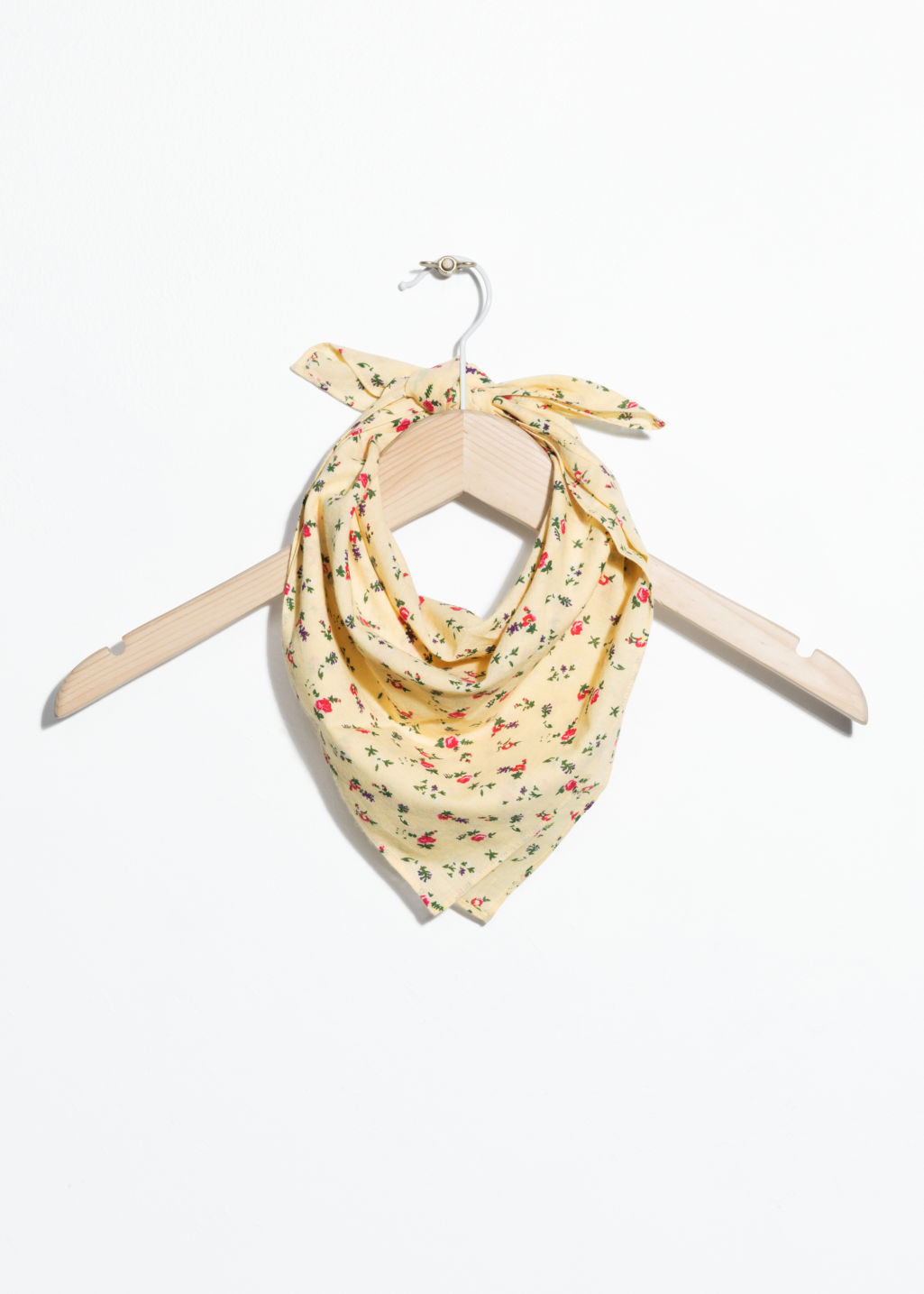 Front image of Stories floral print bandana in yellow