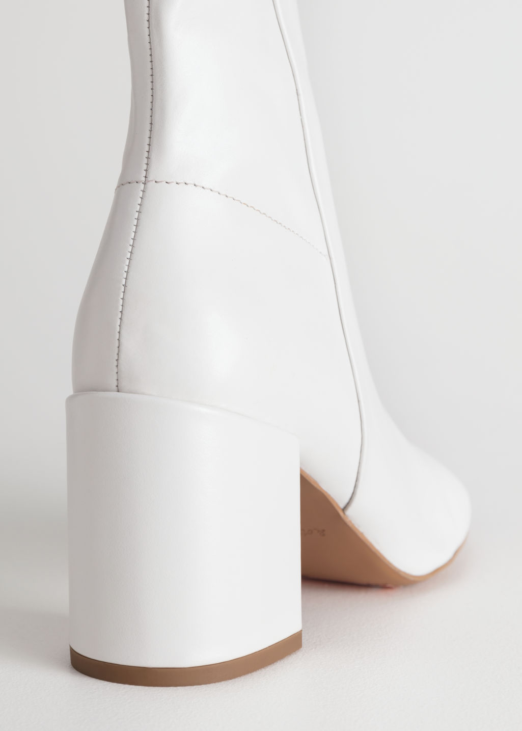 Back image of Stories leather ankle boots  in white