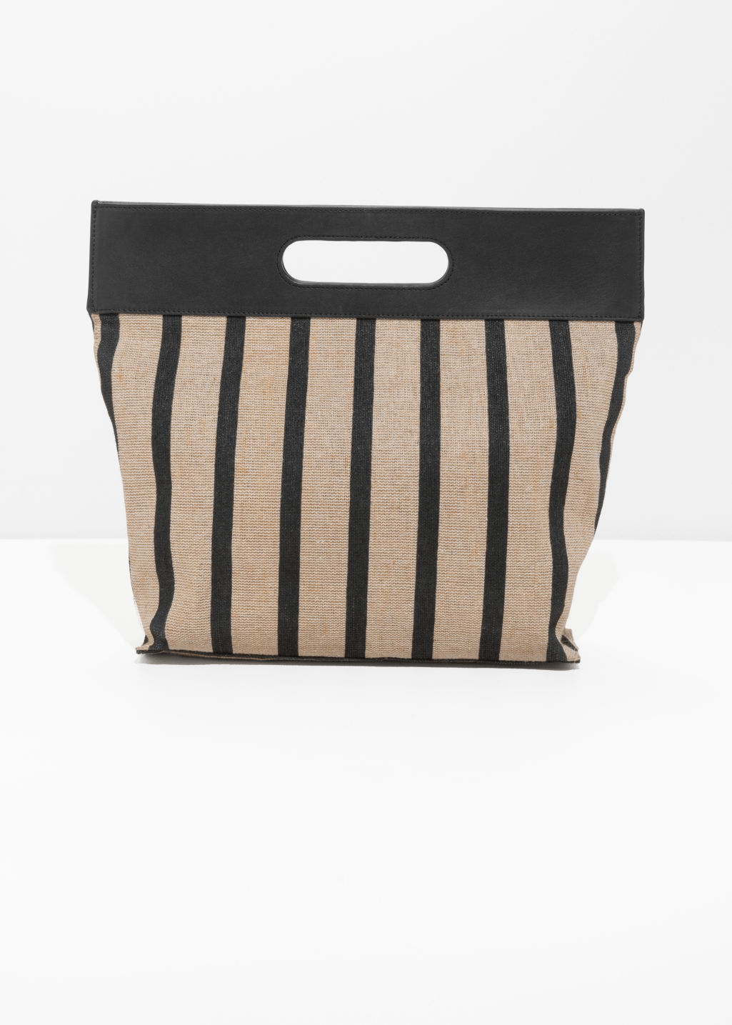 Striped Large Handle Tote
