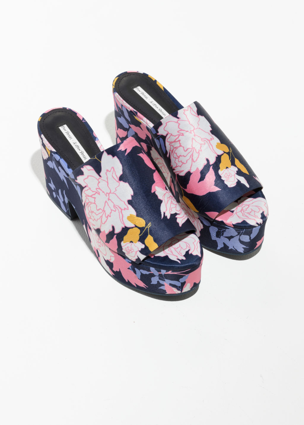 & OTHER STORIES Floral Print Platforms