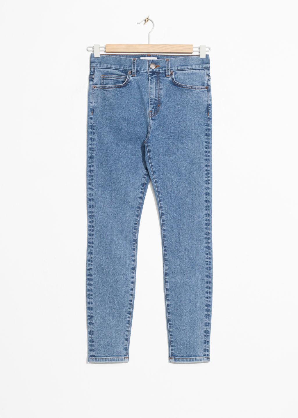 Front image of Stories super slim jeans in blue