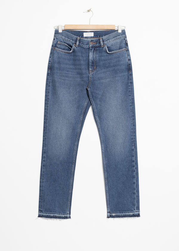 Raw Edge Slim Jeans