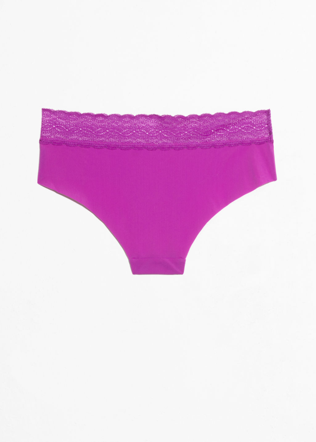 Back image of Stories seamless lace briefs in purple
