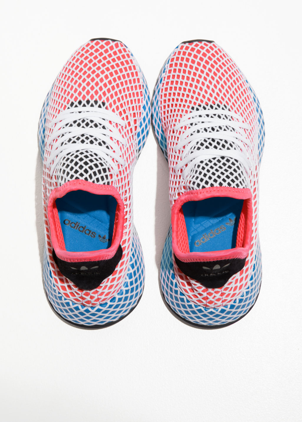 Back image of Stories adidas deerupt runner in red
