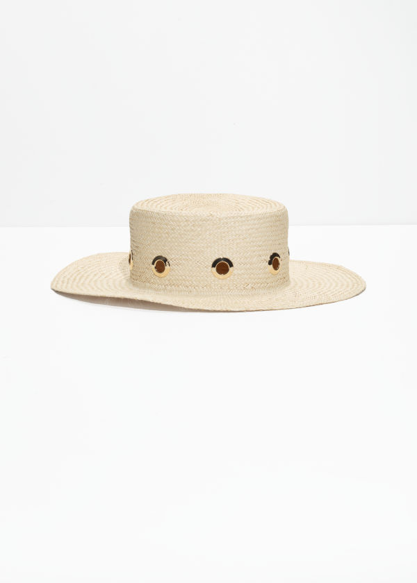 Grommet Straw Hat