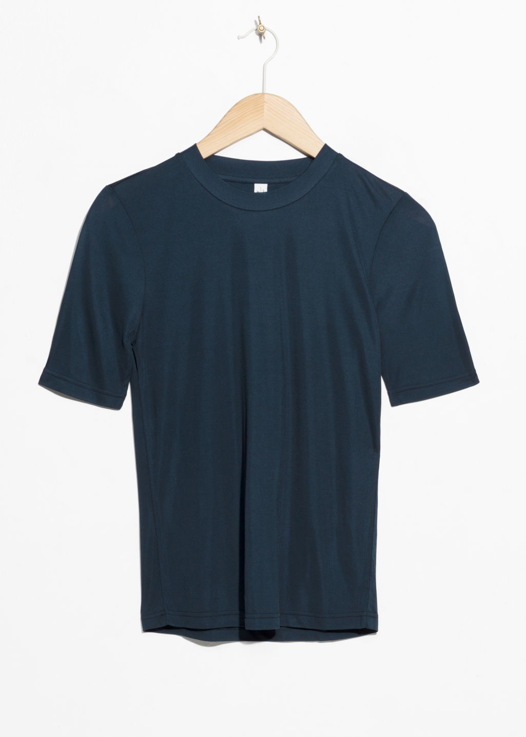 Front image of Stories relaxed fit t-shirt  in blue