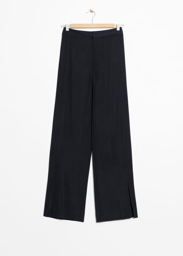 Front Slit Flare Trousers