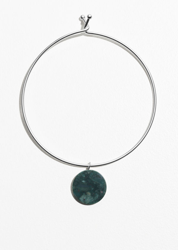 Self Lock Circle Stone Choker