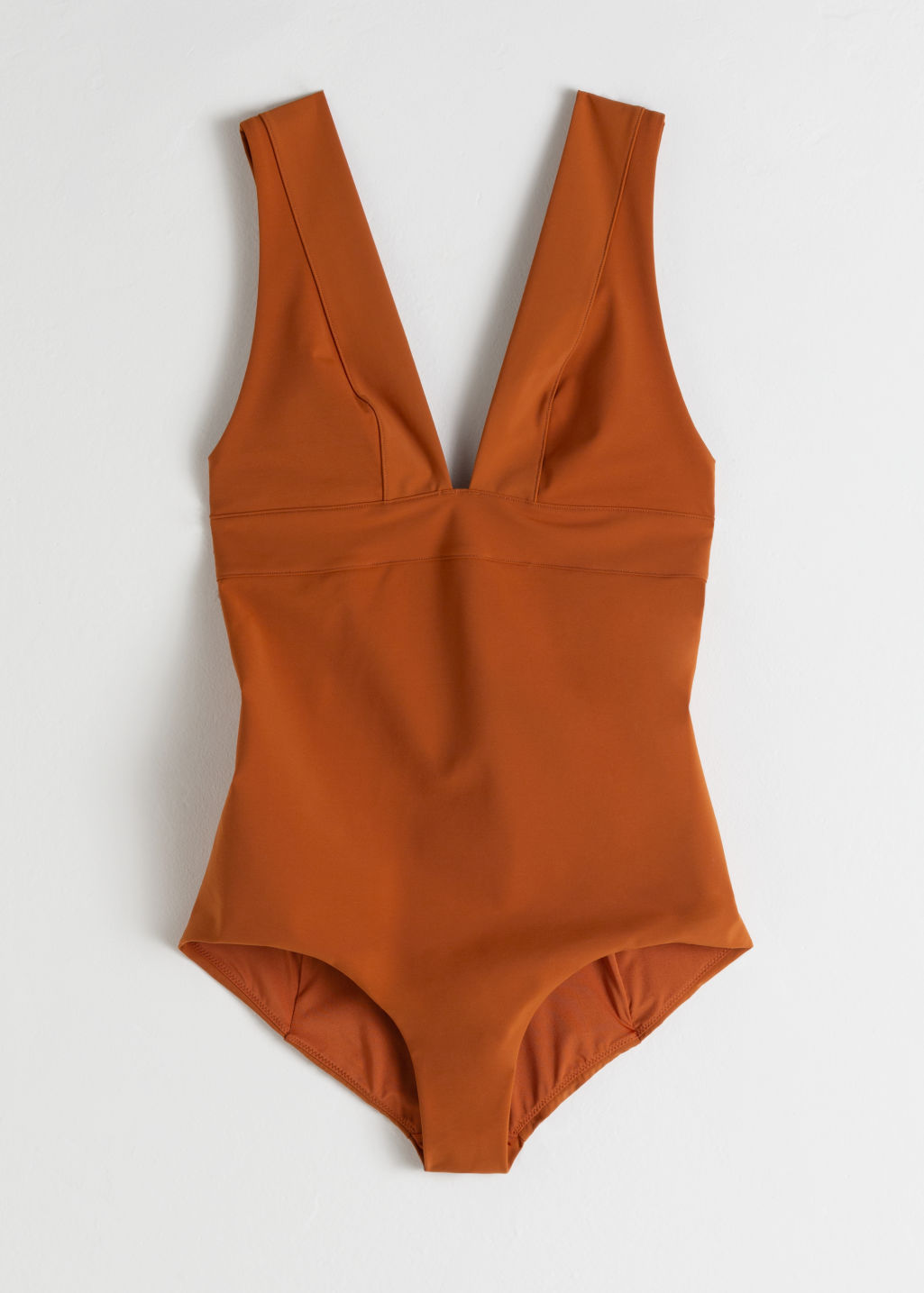 StillLife Front Image of Stories V-Cut Swimsuit in Orange