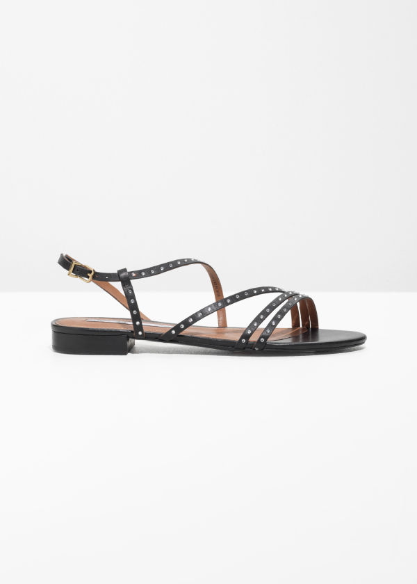 Jewelled Multi Strap Sandals