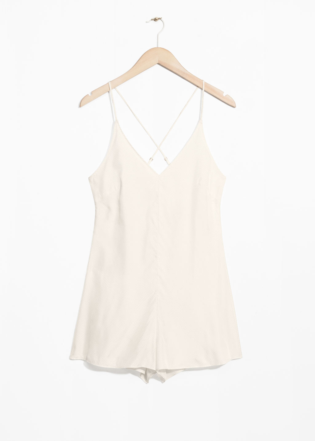 Front image of Stories lounge playsuit in beige