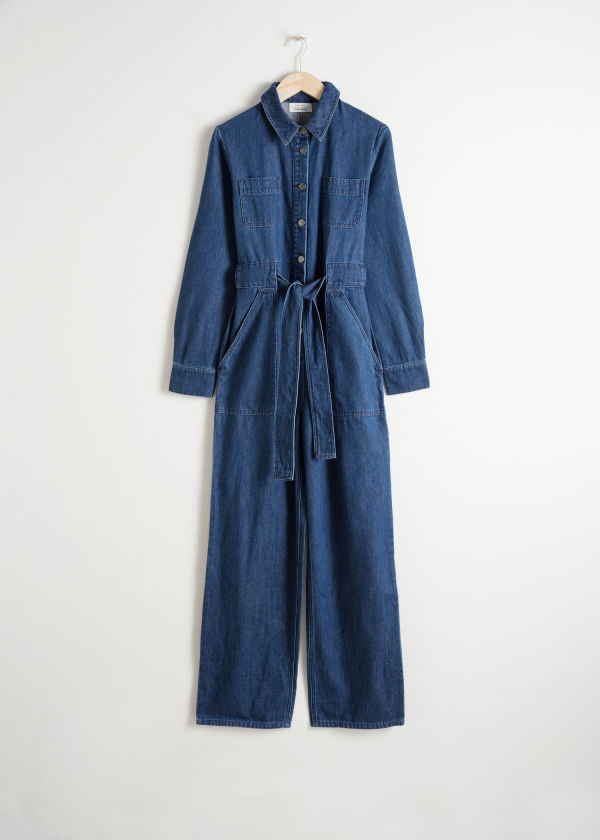 Denim Overall Jumpsuit