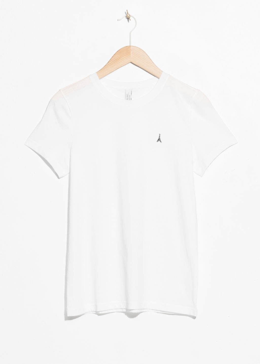 Front image of Stories cotton tee in white