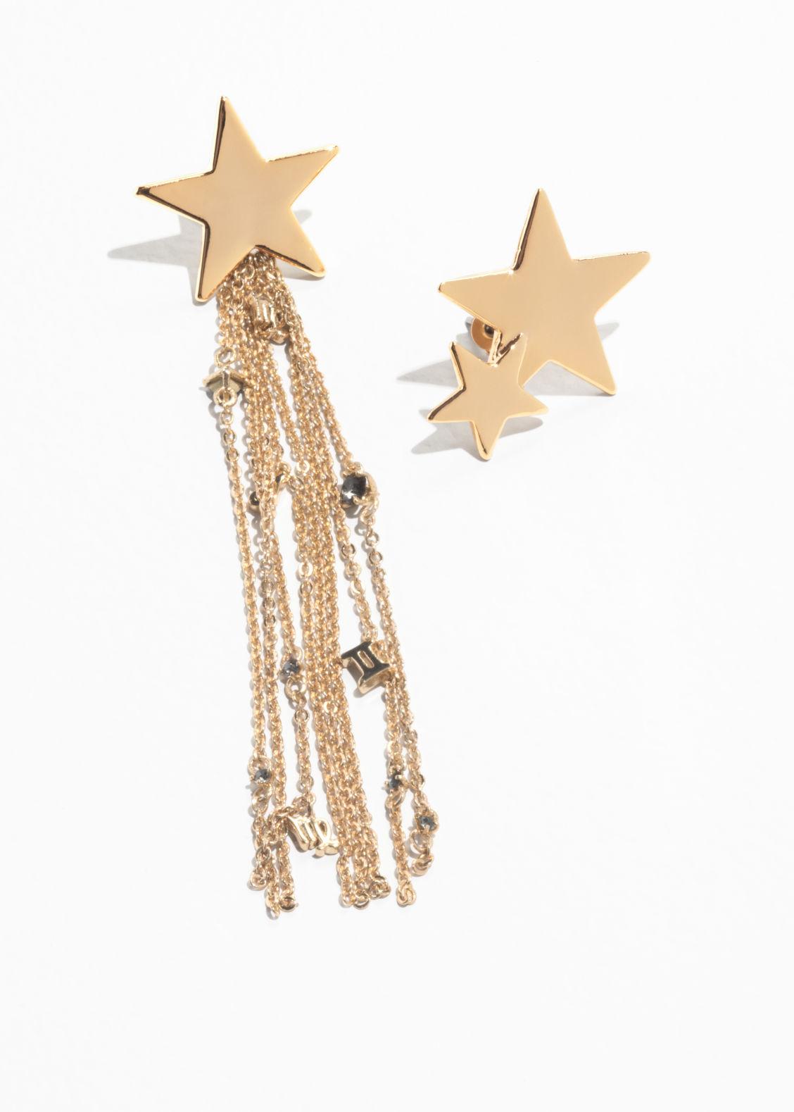 shooting star zodiac earrings gold drop earrings other stories