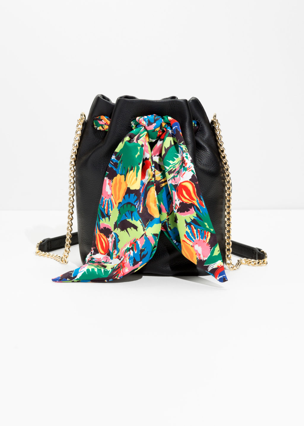 Tropical Tie Bucket Bag