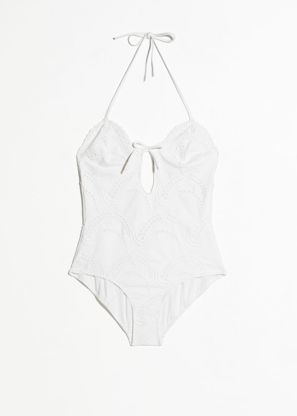 Halter Eyelet Swimsuit