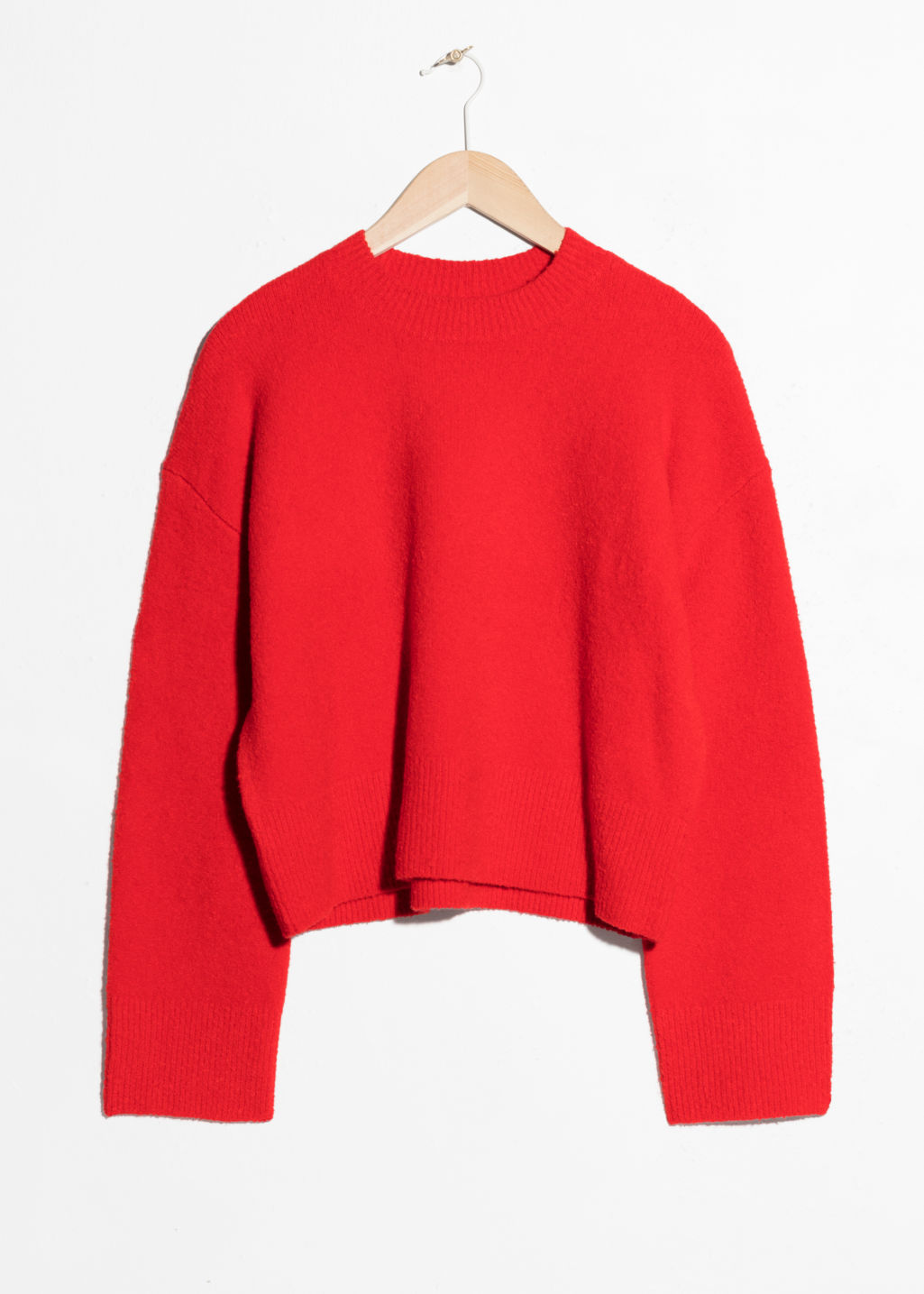 Front image of Stories cropped sweater  in red