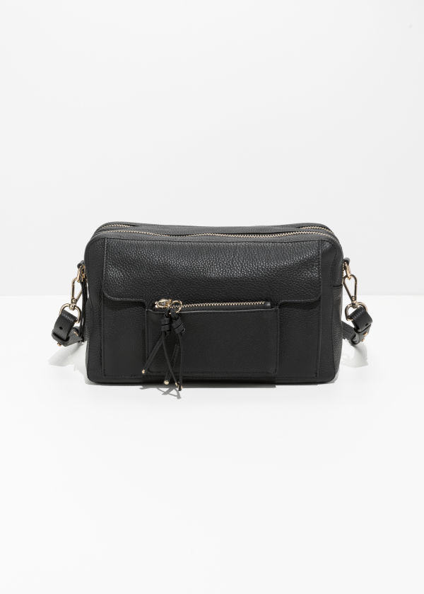 Medium Double Zip Shoulder Bag