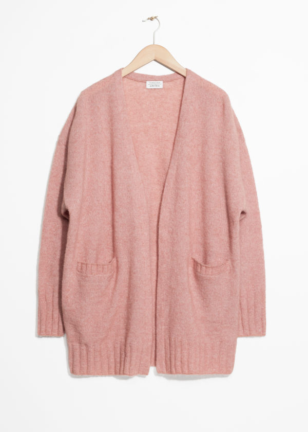 Wool Blend Oversized Cardigan