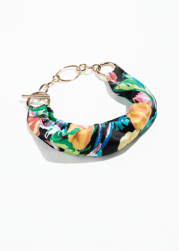 Tropical Wrap Scarf Bracelet