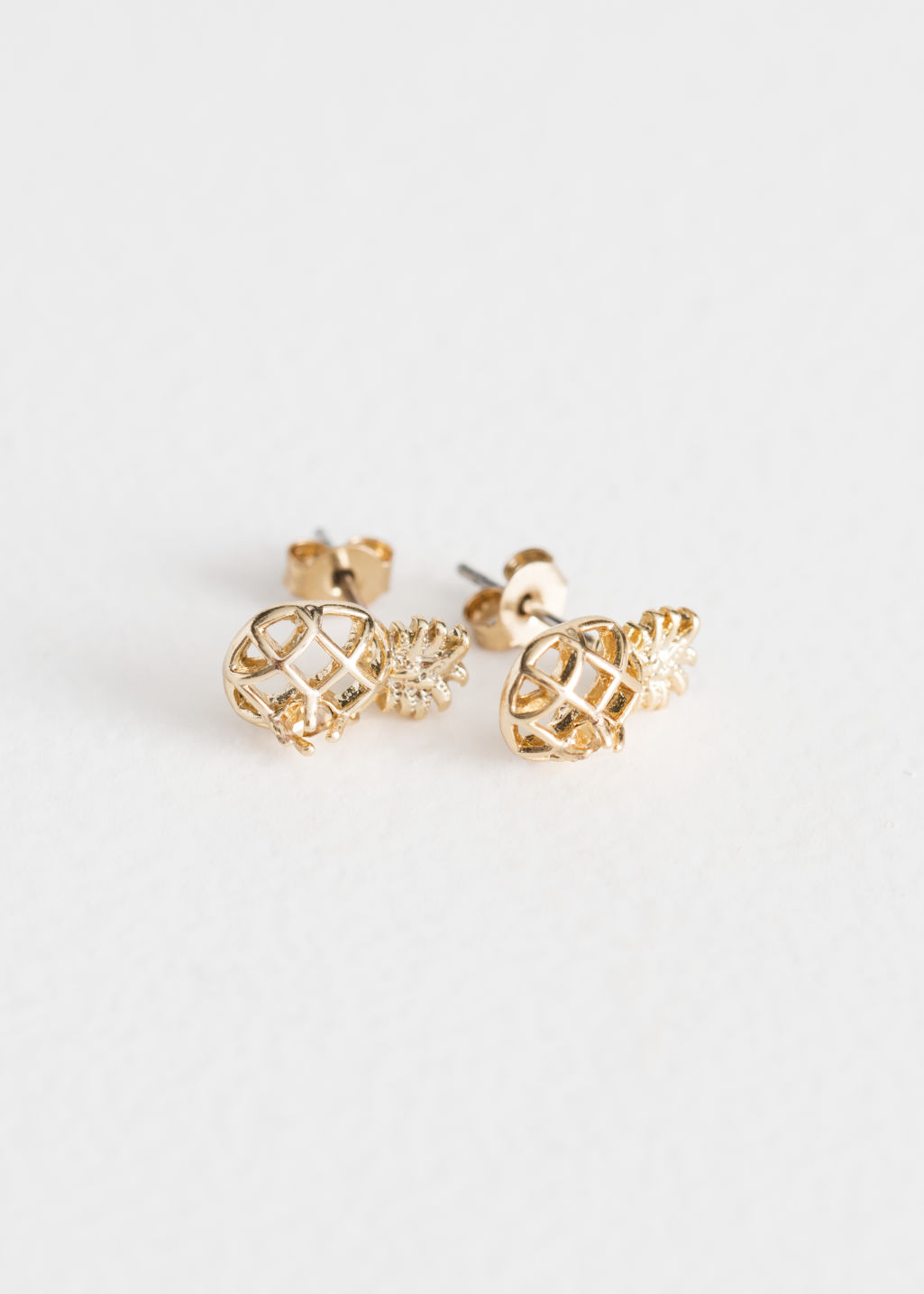 earring com pineapple image product glitsier products stud