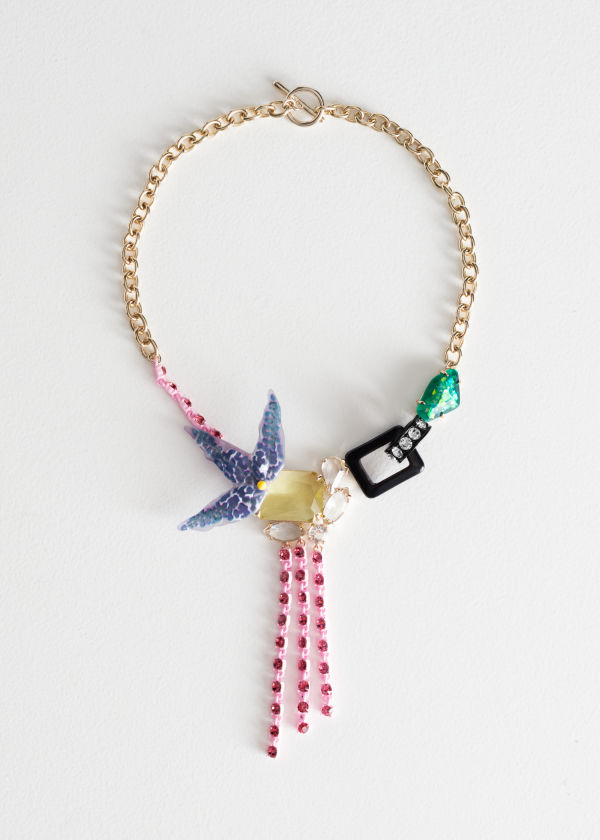 Tropical Flower Jewelled Necklace