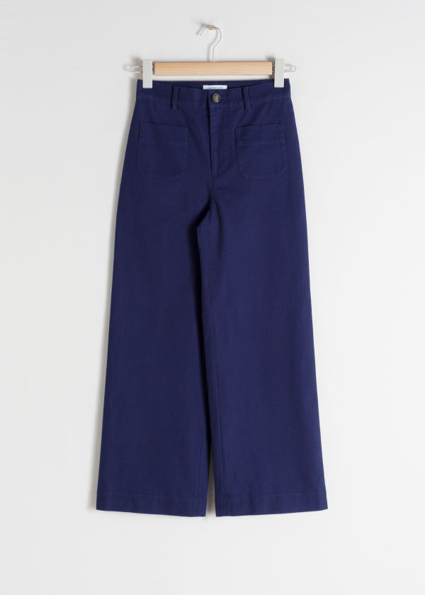 High Waisted Twill Pants