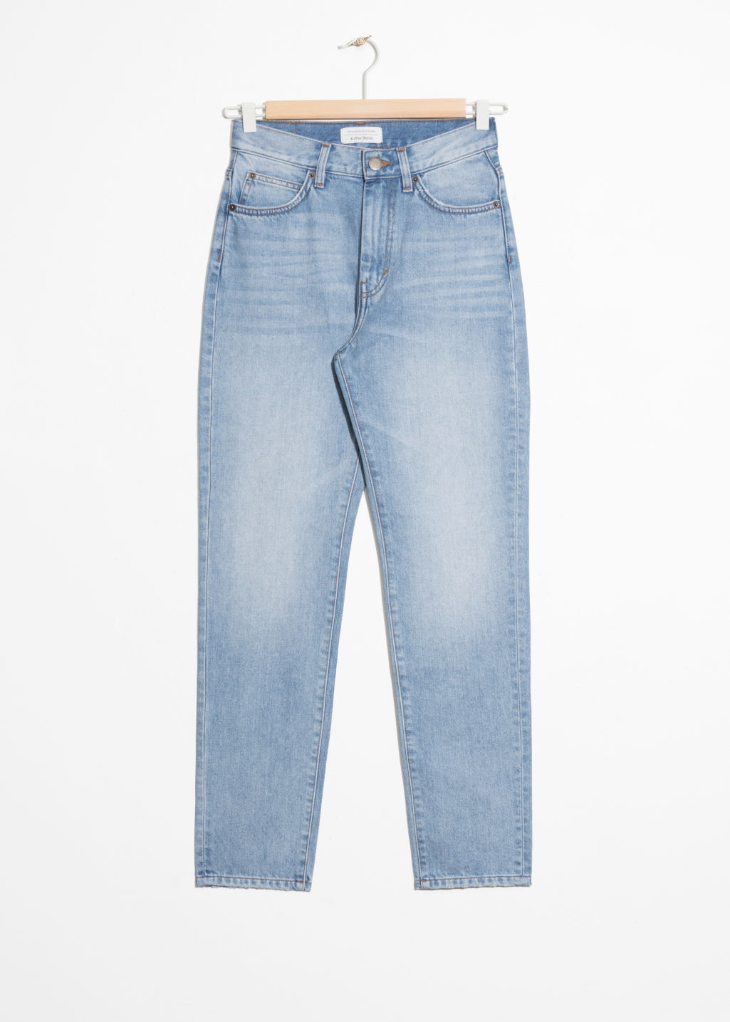Front image of Stories super high slim jeans  in blue