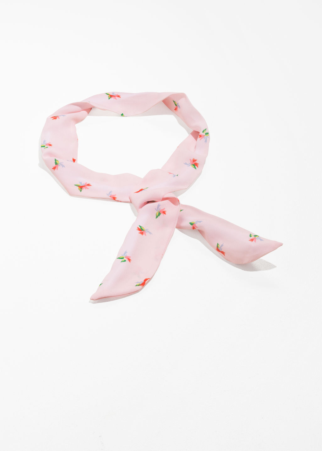 Front image of Stories knotted hairband in pink