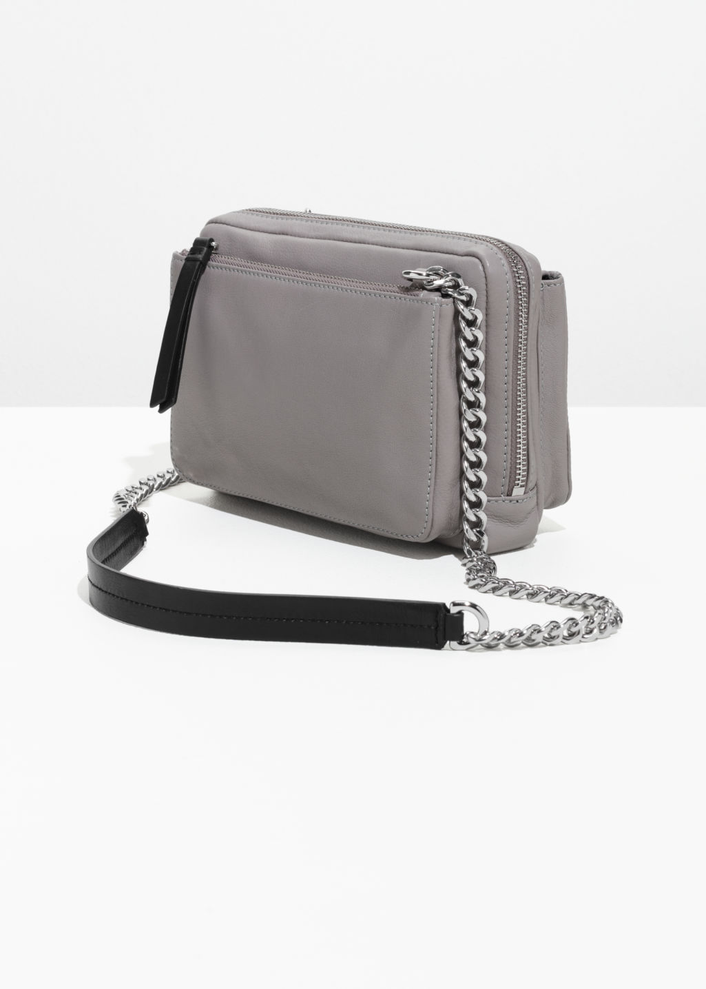 Back image of Stories trio pocket crossbody  in grey