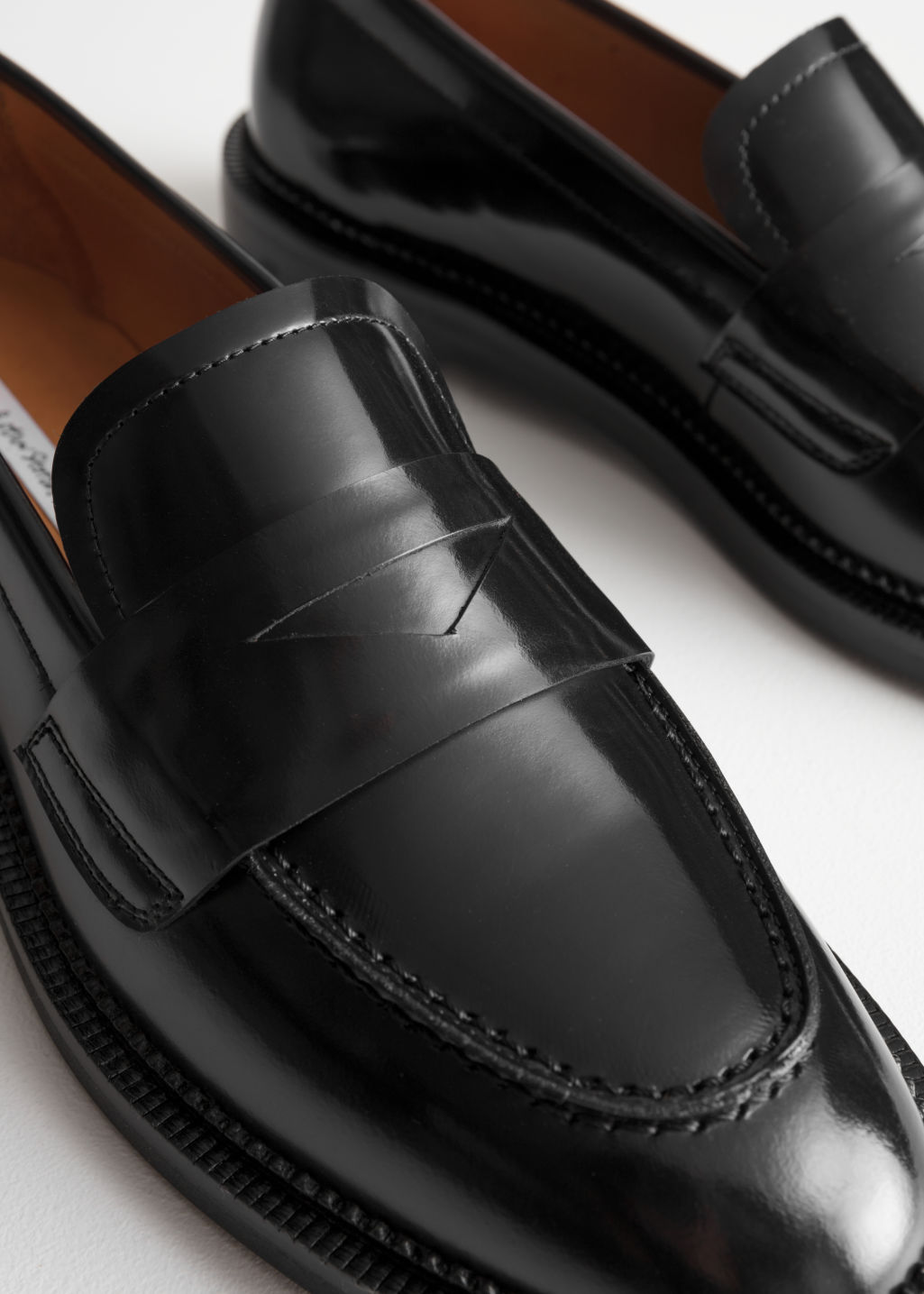 Back image of Stories round toe loafer in black