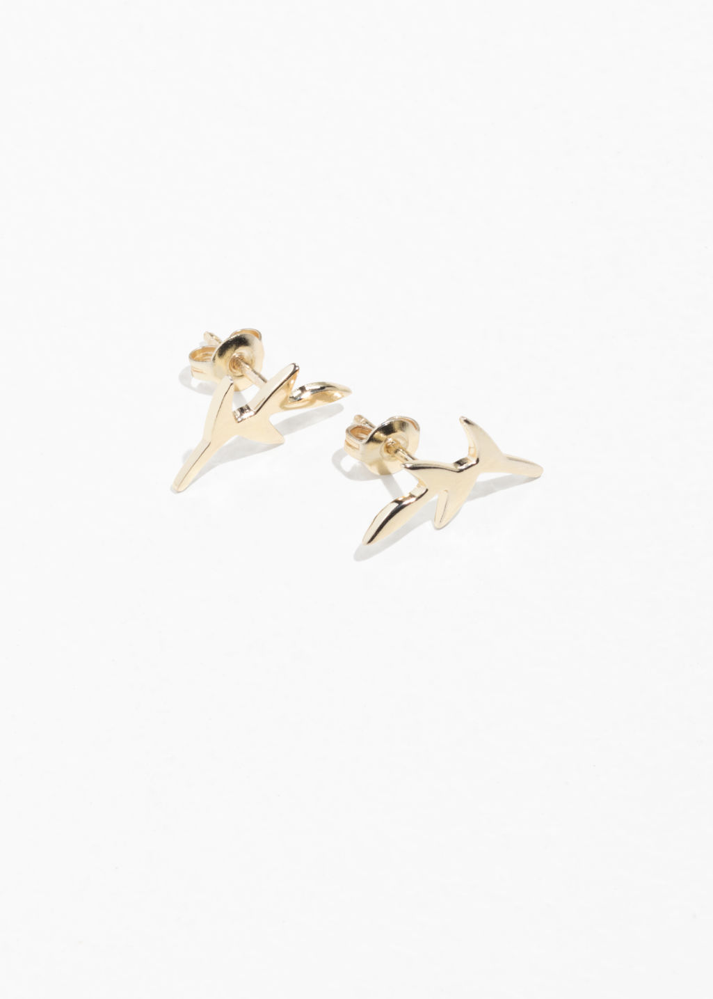Olive Branch Charm Studs