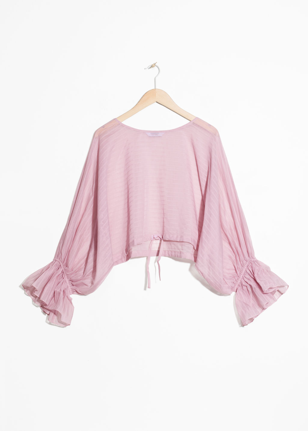 Cropped Bell Sleeve Blouse