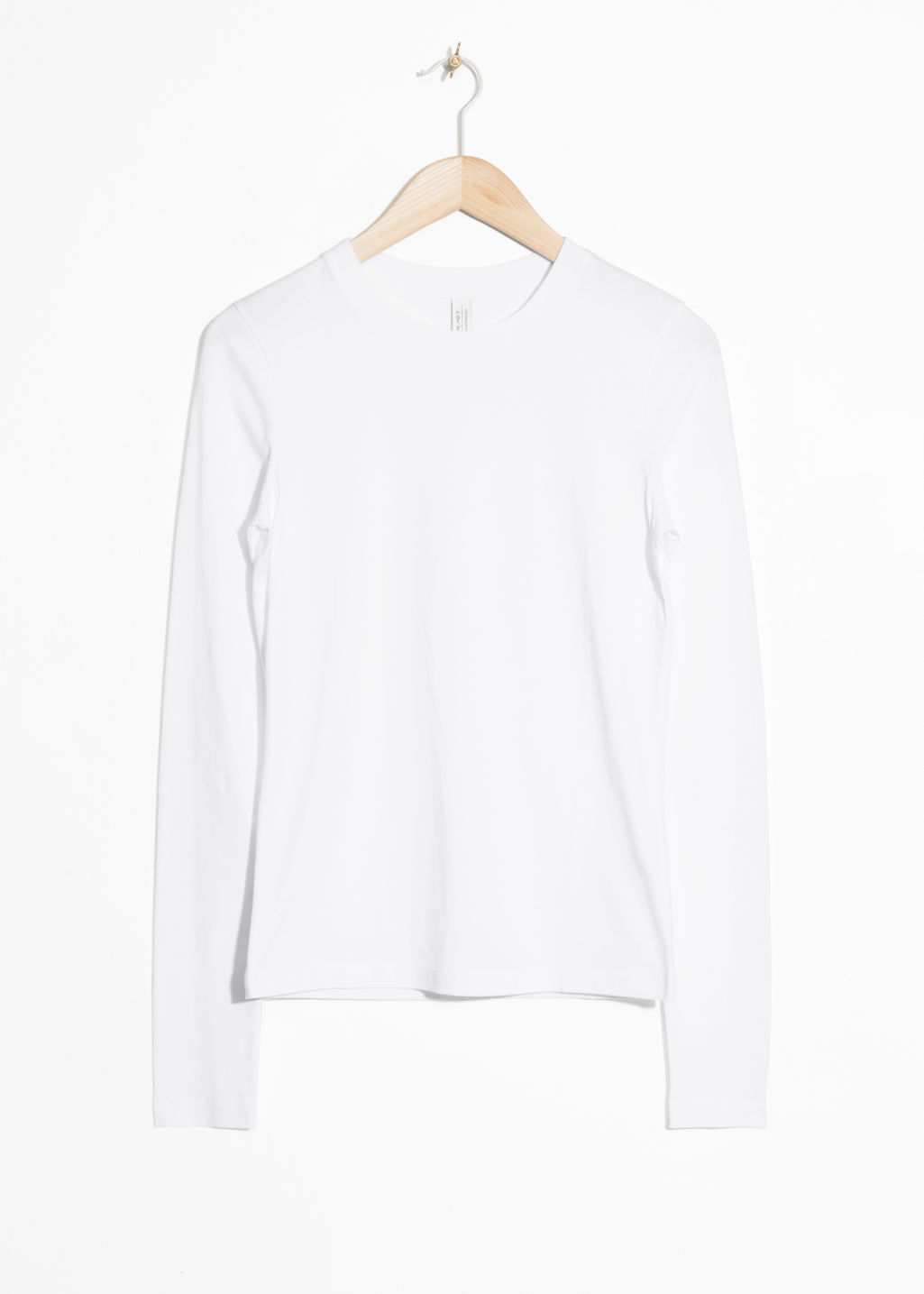 Front image of Stories long sleeve shirt in white