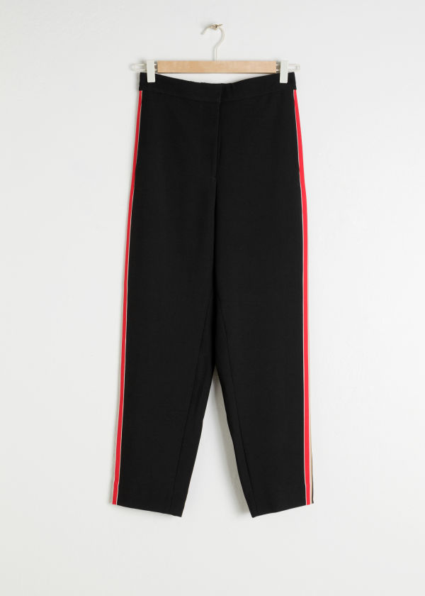 Tapered Racer Stripe Trousers