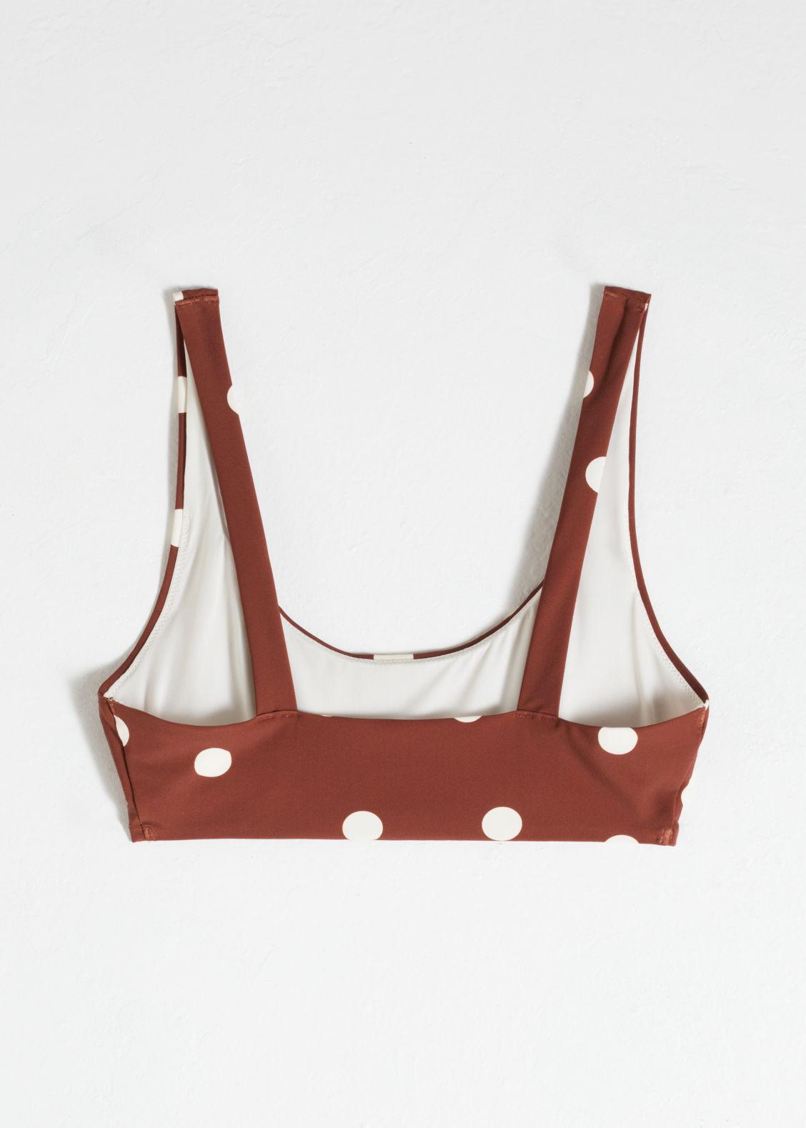 ef58576eceee Polka Dot Bikini Top - Brown - Tops - & Other Stories