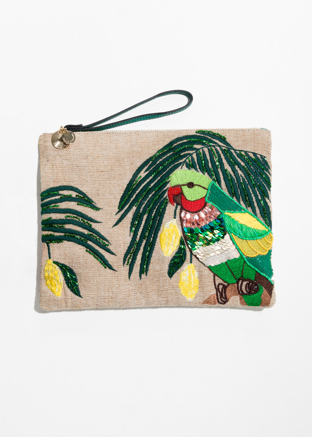 Embroidered Paradise Clutch