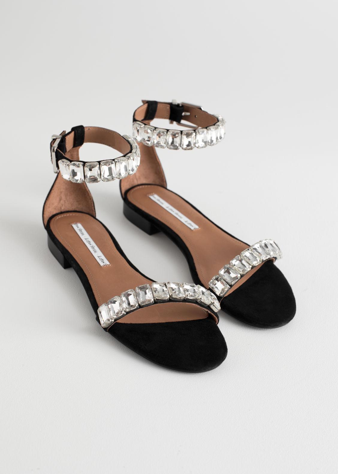 Descuento Mejor & OTHER STORIES Jewelled Strappy Sandals - Black Venta en línea Perfecto para la venta Compre unisex a estrenar barato Venta barata que busca 7qVIfNwHiw