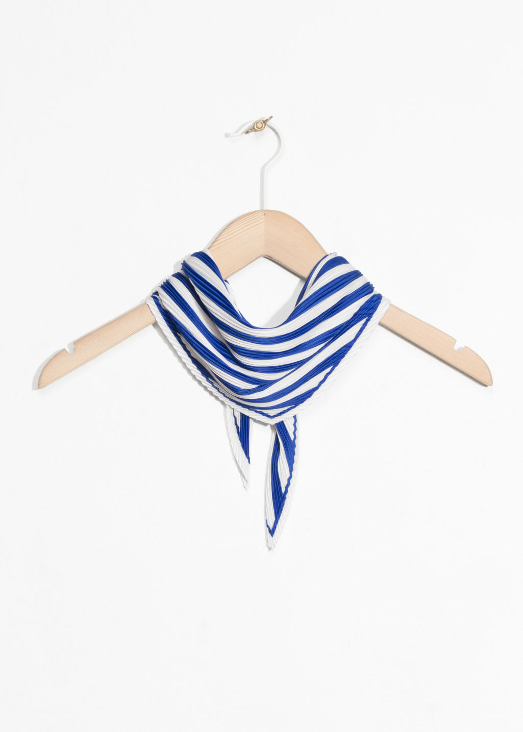 Front image of Stories nautical bandana in blue