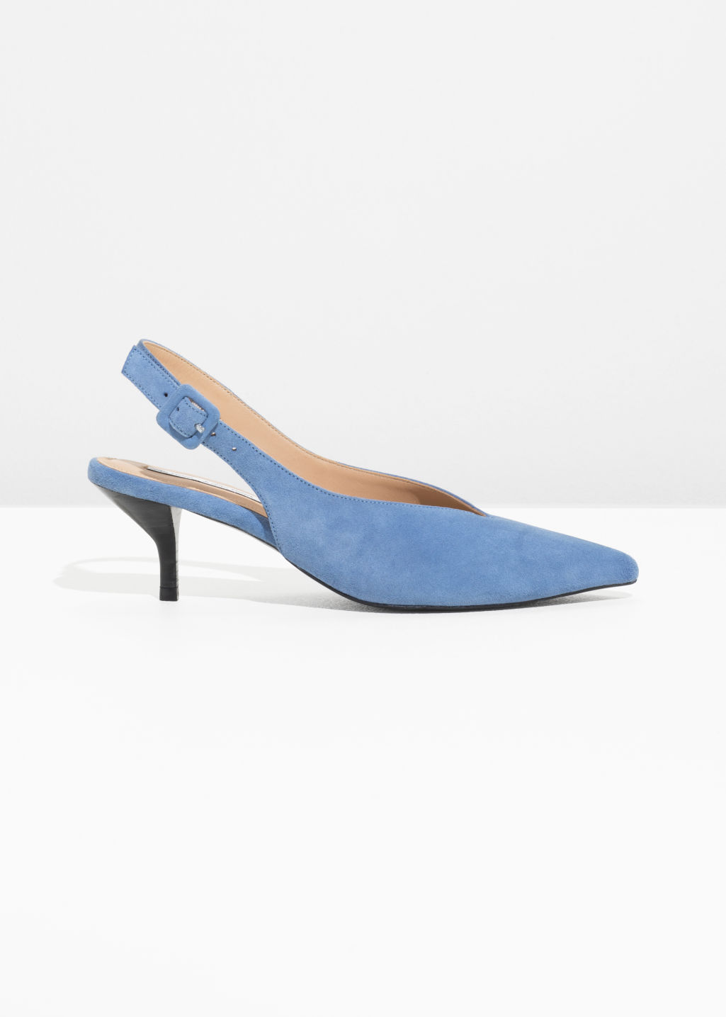 & OTHER STORIES Pointed Heels - Blue Compre barato por barato qjbmX