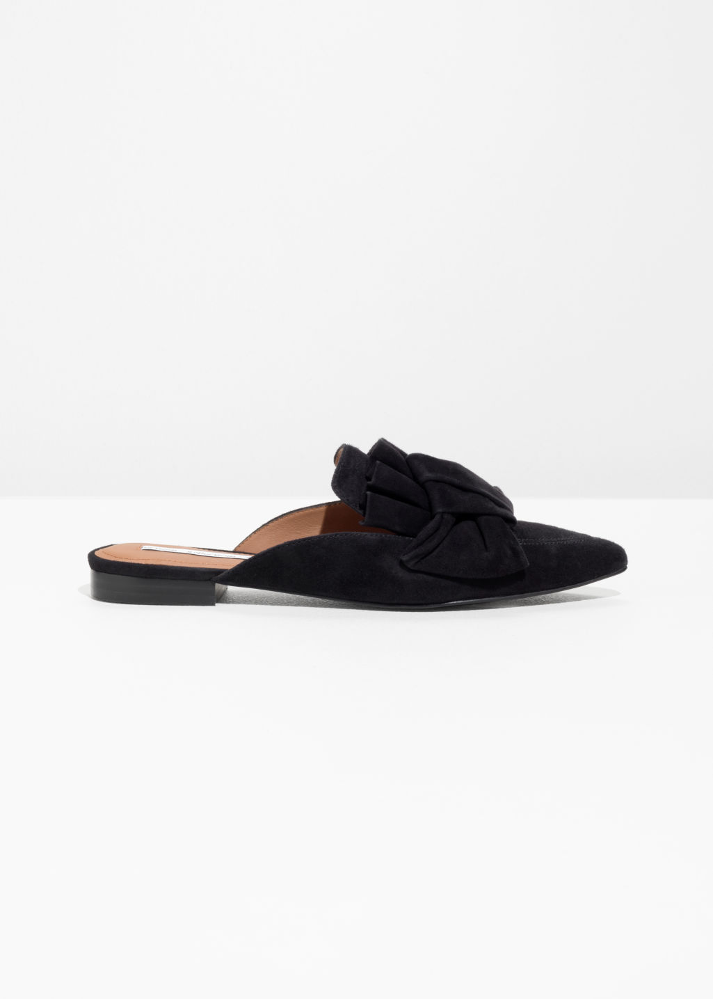 & OTHER STORIES Pleat Knot Suede Slip Ons