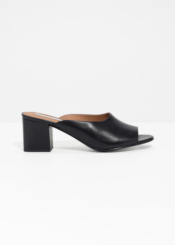 & OTHER STORIES Open Toe Suede Mules FlYCxr