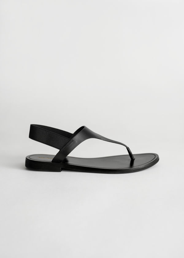 Leather T-Bar Strap Sandals
