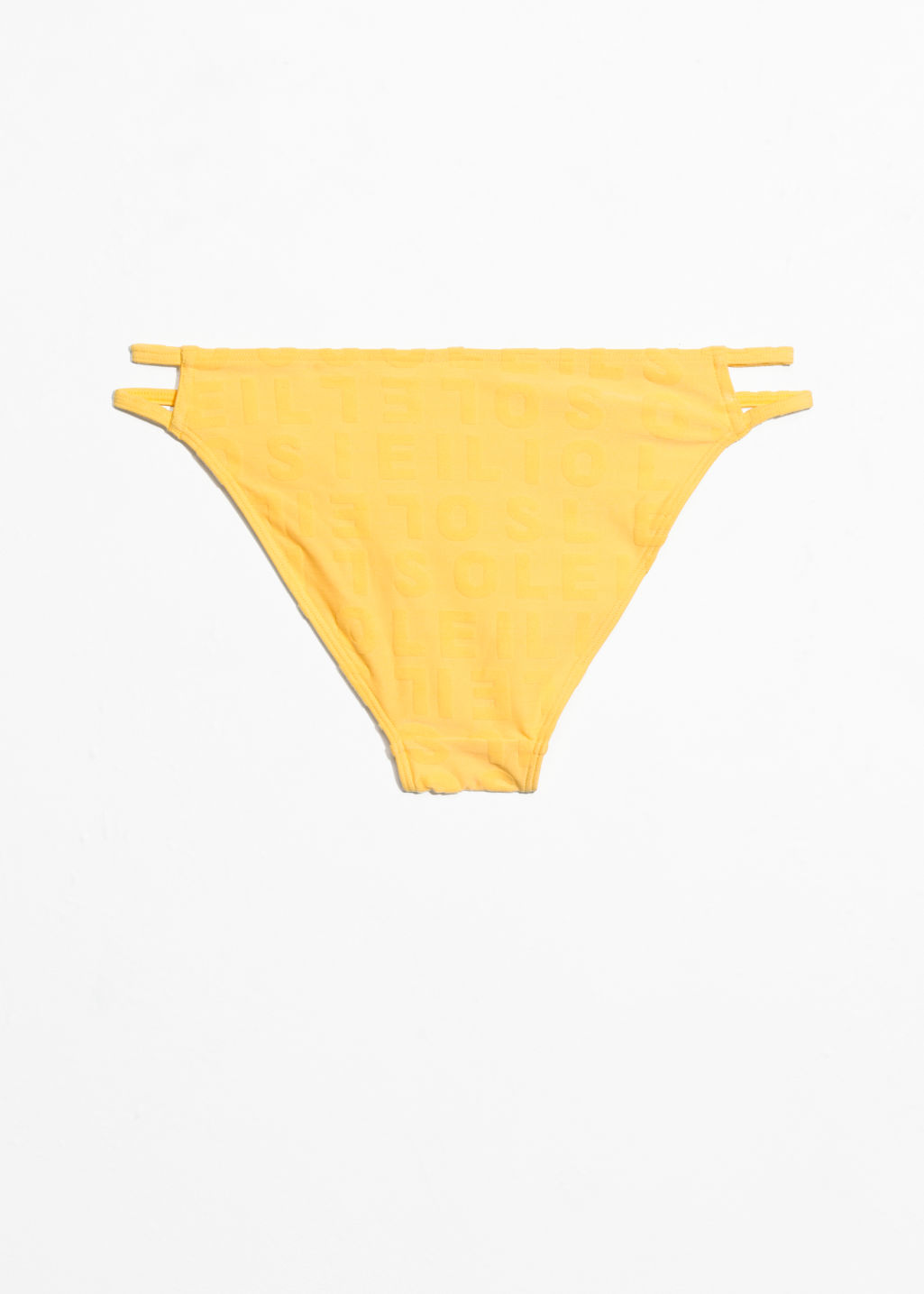 Back image of Stories duo strap bikini briefs in yellow