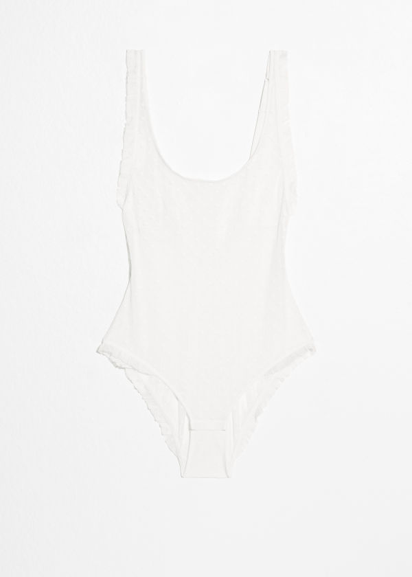 & OTHER STORIES Leaf Lace Body Outlet Very Cheap Outlet Manchester Great Sale wbilnVmw62