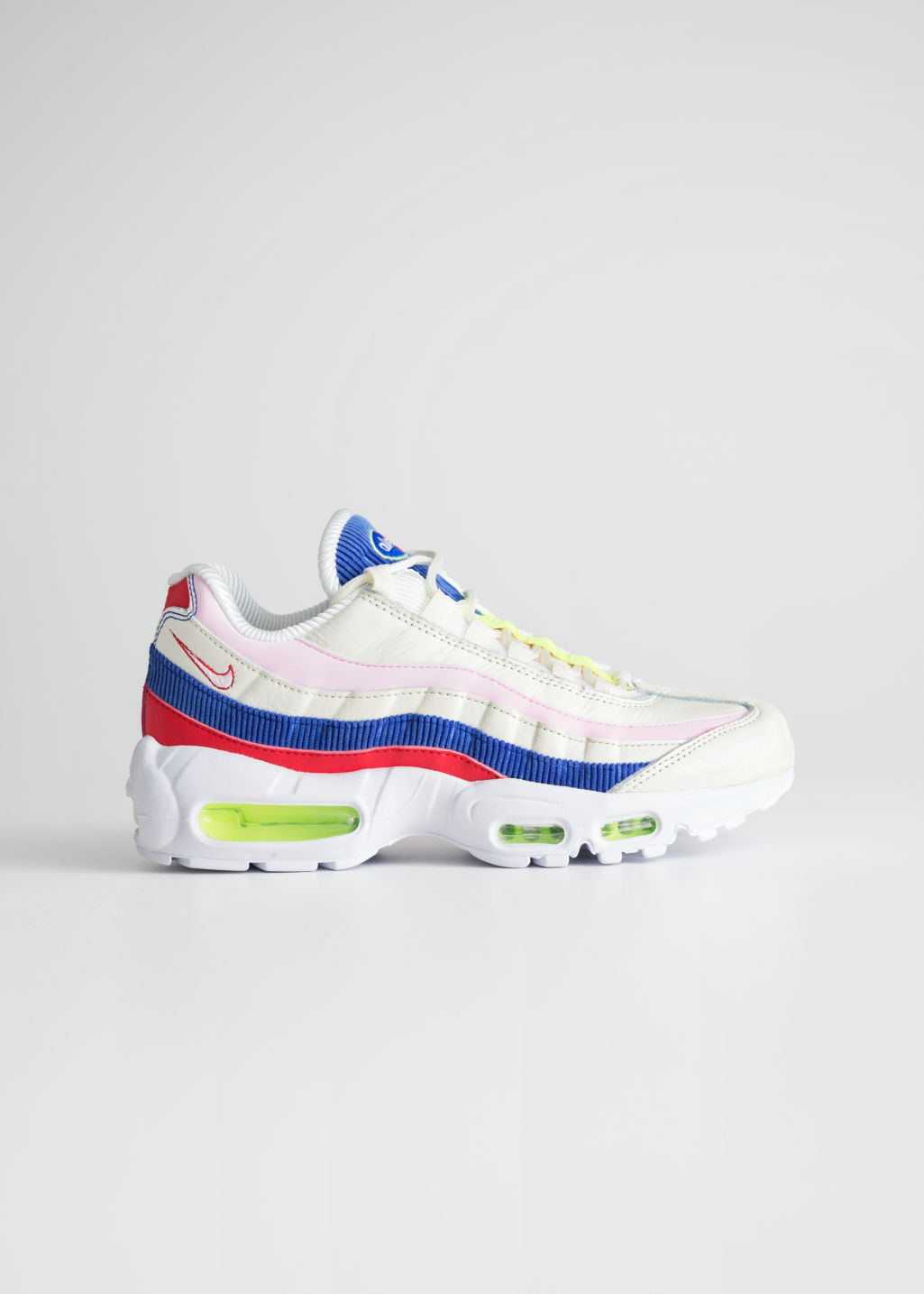 Front image of Stories nike air max 95 se in white