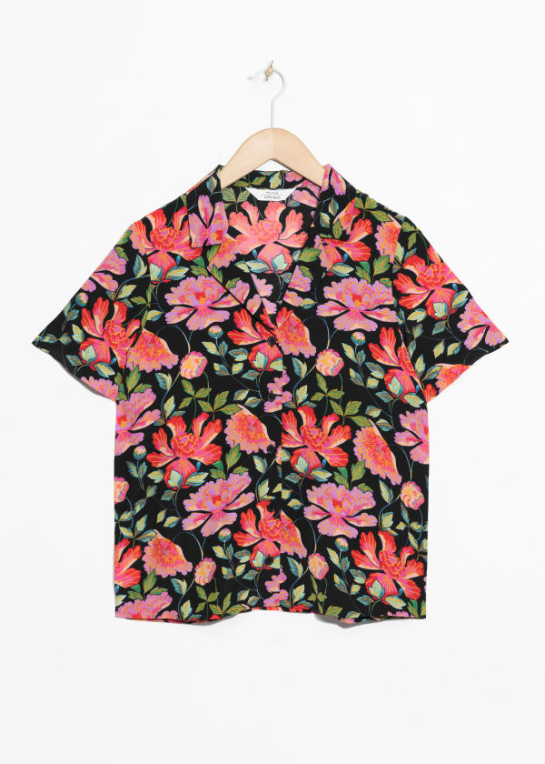 Peony Button Up Shirt