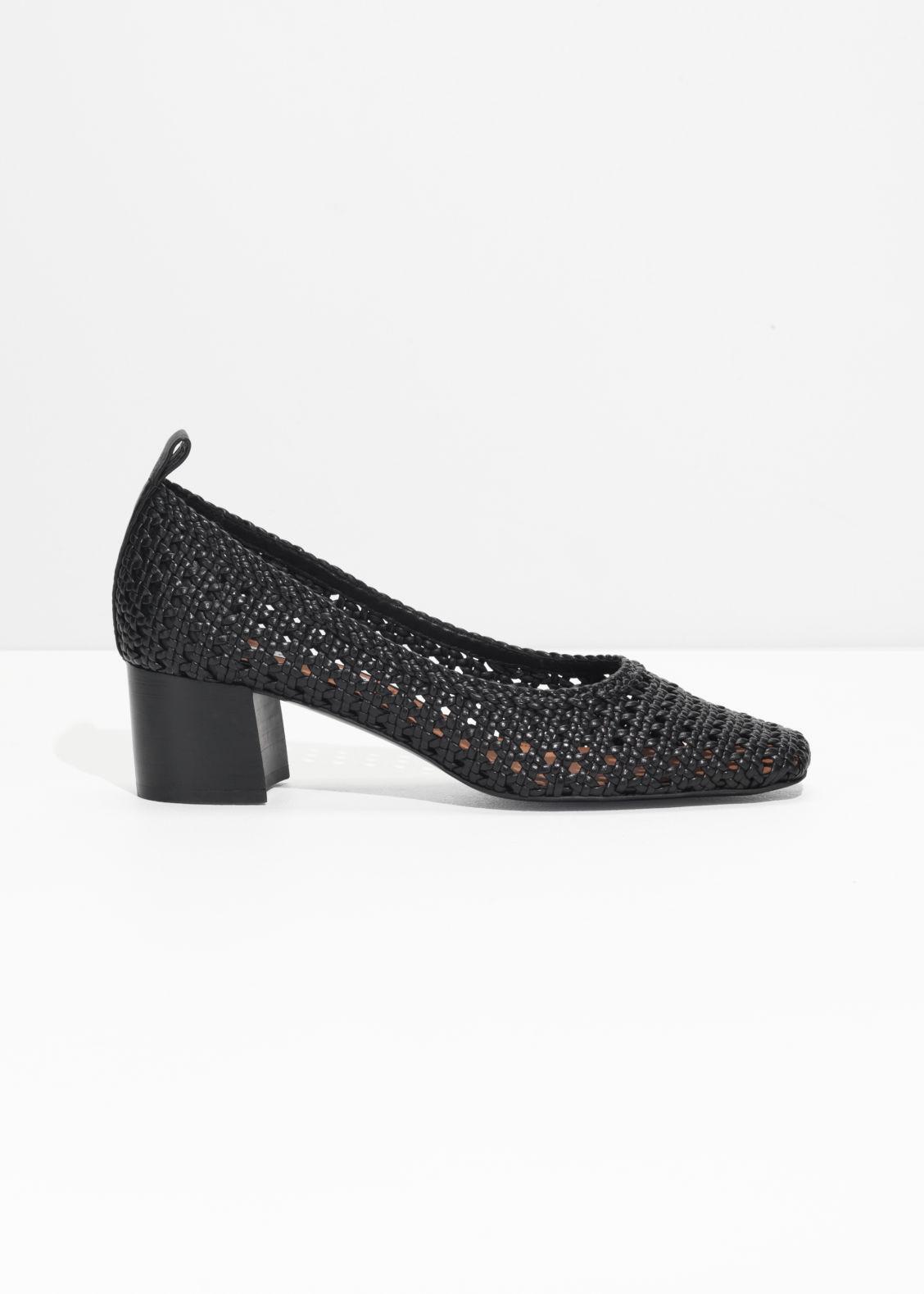 & OTHER STORIES Square Toe Heeled Sandals - Black Cómodo en línea Orden previa de liquidación Barato extremadamente c20RZBIyo